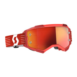 SCOTT Fury Bright Red Goggles - Orange Chrome Works