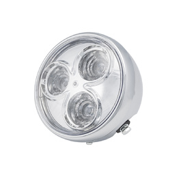 3 Eyes LED Chrome Front Headlight