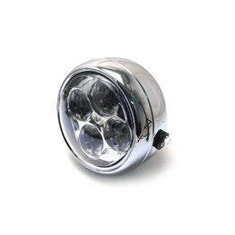 4 Eyes LED All Metal Headlight - Chrome