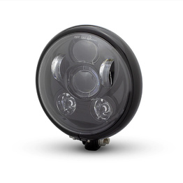 Bates Style Six Projector LED Headlight - Gloss Black