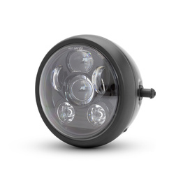 "6"" Metal Six LED Projector Headlight - Black"