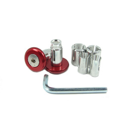 Slim Motorcycle Bar Ends - Red