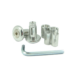 Slim Motorcycle Bar Ends - Silver