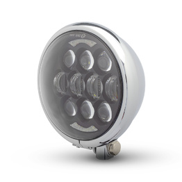 Bates Style LED Multi Projector Headlight - Chrome
