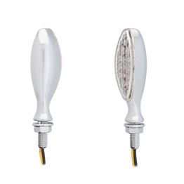 BB9 Cast Metal LED Indicators - Silver