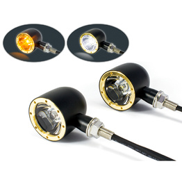 Classic LED Indicator / Daytime Running Lights - Black & Brass