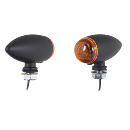 Mini Bullet Bulb Indicators - Black