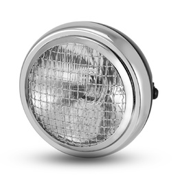 "6.5"" Metal Mesh Headlight - Black/Chrome"