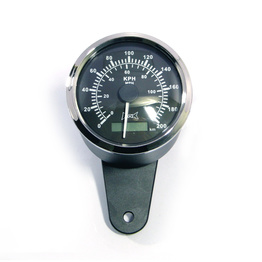 85mm Analog GPS Speedometer with Housing- Black/Chrome