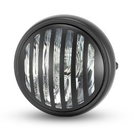 "6.5"" Metal Grill Headlight - Black"