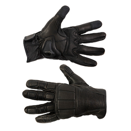 Black Leather Padded Gloves