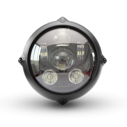 "7"" Bottom Mount Alloy Vintage LED Headlight"