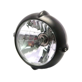 "6.7"" Vintage Bottom Mount Headlight - Black"