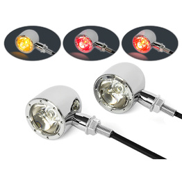 Classic LED Stop/Tail/Indicator Lights - Chrome