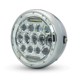 "7.7"" Chrome Multi Projector LED Metal Headlight"
