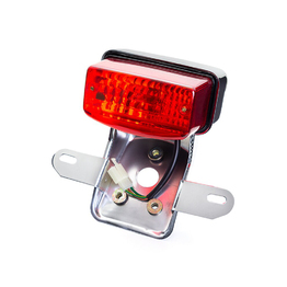 Classic Rectangle Brake / Tail Light with Bracket - Chrome
