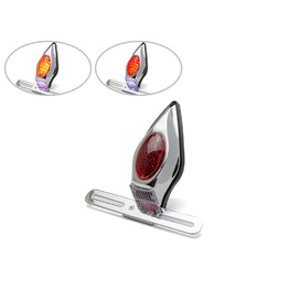 Tombstone Alloy Tail Light - Chrome
