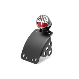 Miller Tail Light with Curved Side Axle Mount License Plate Holder