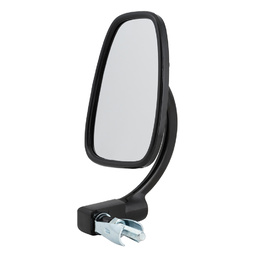 Devon Satin Black Bar End Mirror