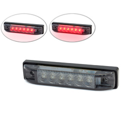 Flush Mount LED Tail Stop Light - Smoked lens