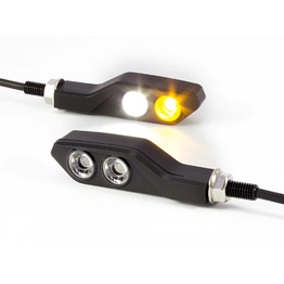 Black Aluminium Integrated Indicators / Daytime Running Light