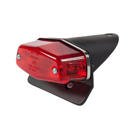 Lucas Style Short Tail Rear Light - Matt Black