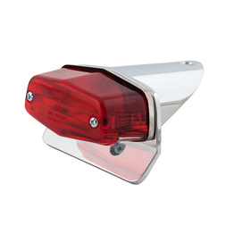 Lucas Style Short Tail Rear Light - Chrome