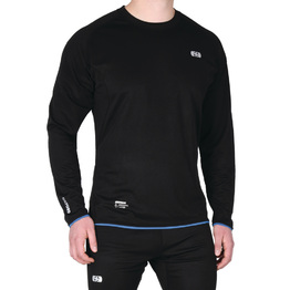 Oxford Cool Dry Long Sleeve Top - Black