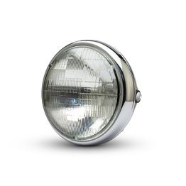 "7.7"" Shorty Metal Headlight - Chrome"