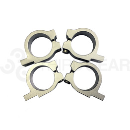 Fork Clamp brackets Set 32/33 MM - SIlver