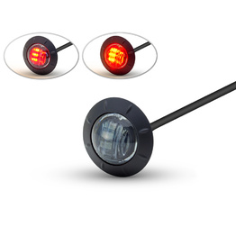 Round Flush Mount LED Tail Stop Light - Smoked lens