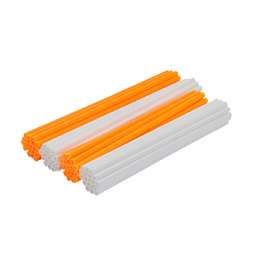 Spoke Wraps - Fluro Orange and White