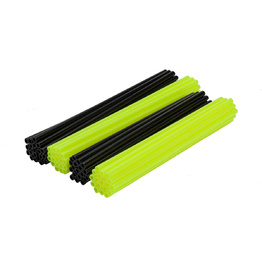 Spoke Wraps - Fluro Yellow and Black