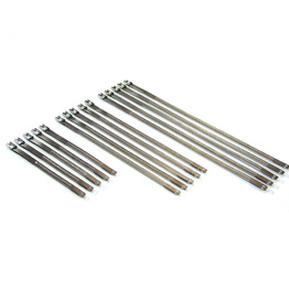 Ladder Style Stainless Steel Zip Ties - Steel