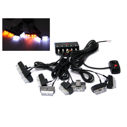 8 Piece LED Emergency Flashing Strobe Light Set