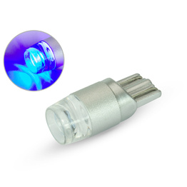 Single T10 W5W 12V LED Projector Bulb - Blue