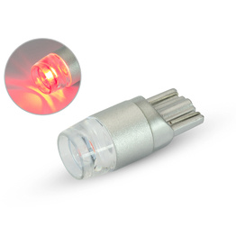 Single T10 W5W 12V LED Projector Bulb - Red