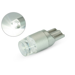 Single T10 W5W 12V LED Projector Bulb - White
