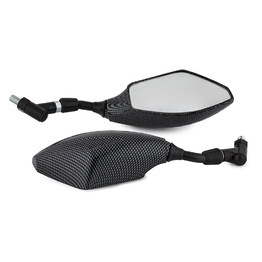 Sport Bike 10mm Motorcycle Mirrors - Carbon Style